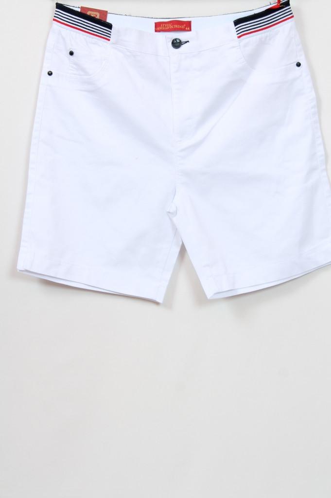 Турецкие женские белые шорты больших размеров 48-64