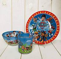 """Набор детской посуды """"Щенячий патруль"""" 3-х предметный."""