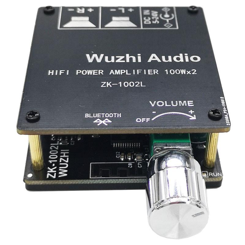 Підсилювач звуку 2х100 Вт, чіп TPA3116 2.0, живлення 5-24В, Bluetooth 5.0, модель ZK-1002L