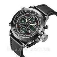 AMST Watch ЧЕРНЫЕ, Военные часы, Армейские часы, Наручные мужские часы, Водонепроницаемые часы