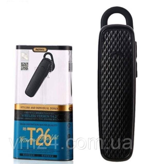 Гарнитура Bluetooth гарнитура Remax RB-T26-Black