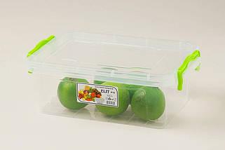 Контейнер пищевой Ал-Пластик Elit 2.2 л. плоский 256 х 170 х 95 мм, фото 3