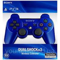 Беспроводной bluetooth джойстик PS3 Dualshock SONY для PlayStation 3 Синий, ,белый
