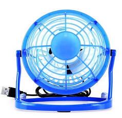 Вентилятор настольный USB для ноутбука ПК или в авто синий 816