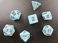 Дайсы (кубики) с эффектом потертости - комплект 7 шт.