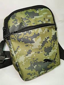 (4 кармана)Барсетка PUMA сумка спортивные принт камуфляж для через плечо Унисекс ОПТ
