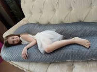 Подушка для беременных 3 в 1 STANDART+ Плюш 120 см U ТМ Добрый Сон