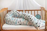 Подушка для беременных 3 в 1 STANDART 120 см U ТМ Добрый Сон, киты, 13-01/11