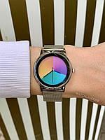 Наручные женские часы цветные серебряные