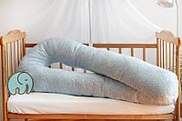Подушка для беременных 3 в 1 STANDART 150 см U ТМ Добрый Сон, луна со звездами , 13-02/10