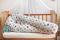 Подушка для беременных 3 в 1 STANDART 170 см U ТМ Добрый Сон, кошечки , 13-03/8