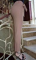 LEX №13 Штани жіночі в клітку з поясом 46-56 бежеві/ бежевого кольору/ бежевий