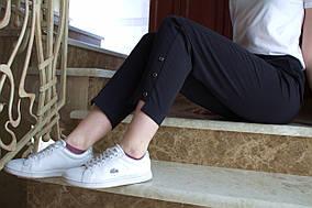 LEX №92 Чорні жіночі штани з поясом на резинці 46-58