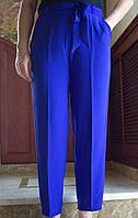 LEX №31 Літні штани з поясом на резинці 46-58 сині/ синього кольору/ синій/ електрик/ яскраво-синій
