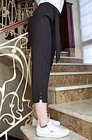 LEX №4 Літні жіночі штани жіночі укорочені з поясом 44-56 чорні/ чорного кольору/ чорний