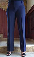 LEX №16 Штани жіночі класичні БАТАЛ 48-60 сині/ синього кольору/ синій