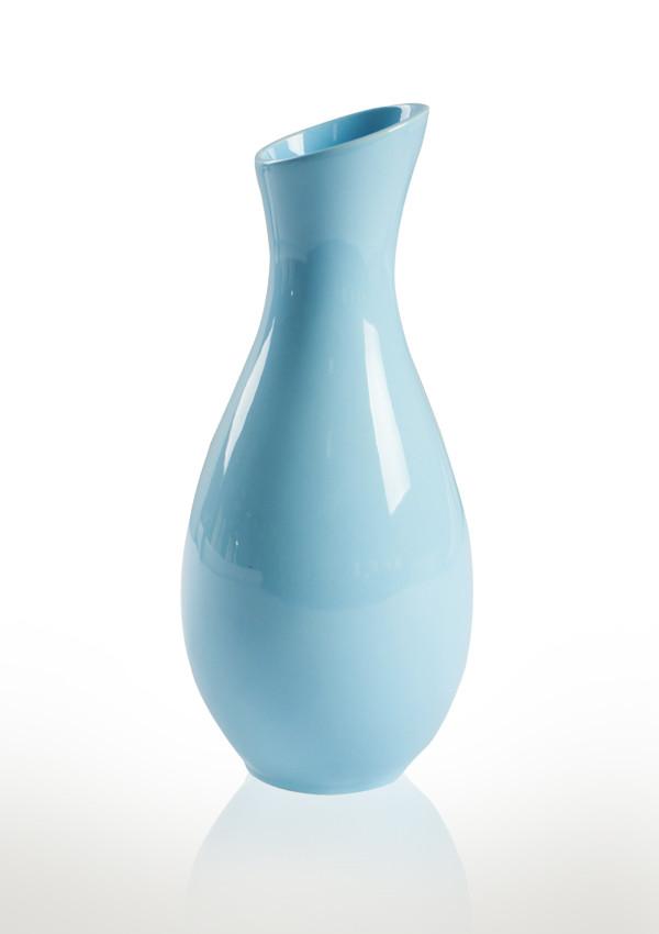 Ваза Хвиля блакитна кераміка 7*7*20 см 101-20 B