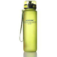 Пляшка для води Uzspace Green 1000 мл Зелена