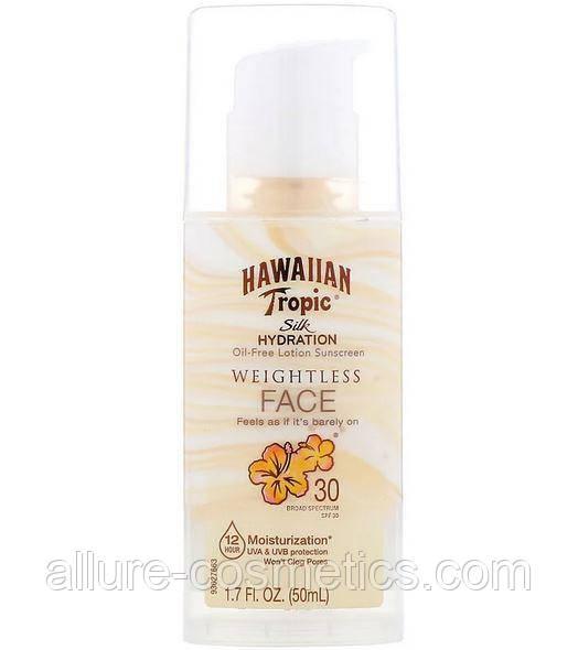 Сонцезахисний крем для обличчя Hawaiian Tropic Silk Hydration Weightless Face Oil Free Lotion Sunscreen SPF 30