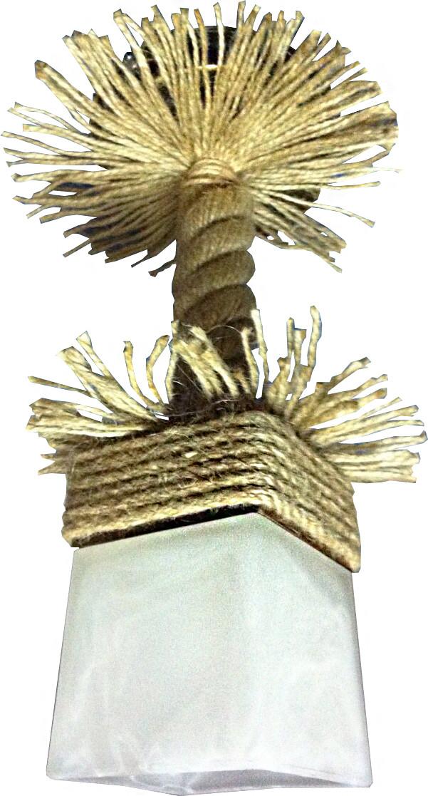 Люстра Пальма из натурального дерева подвес