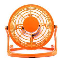 Вентилятор настольный USB для ноутбука ПК или в авто оранжевый 816