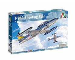 T-33A SHOOTING STAR. Сборная модель истребителя в масштабе 1/72. ITALERI 1444