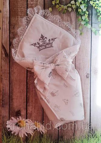 Детский летний конверт на выписку, конверт-одеяло (ЛЕТО), конверт-плед для новорожденного, фото 2