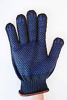 Рукавиці робочі чорні з ПВХ покриттям