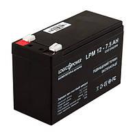 Аккумулятор LogicPower  12V / 7,5 A Размер, мм (ДхШхВ):65х150х95
