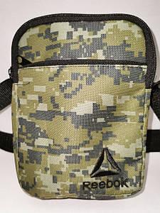 (4 кармана)Барсетка reebok сумка спортивные принт камуфляж для через плечо Унисекс ОПТ