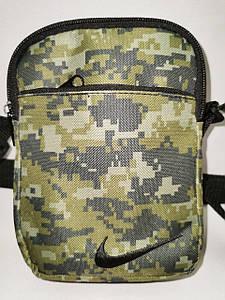 (4 кармана)Барсетка сумка nike спортивные принт камуфляж для через плечо Унисекс ОПТ