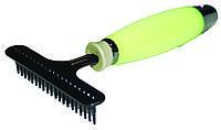 Грабли с пластиковыми зубцами  средние, силиконовая ручка, 8х17см
