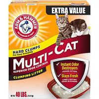 Наполнитель для котячого туалету, ароматизований Arm&Hammer MULTI-CAT STRENGTH CLUMPING  12 кг.