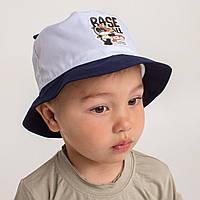 Панамка с ушками на лето для мальчика оптом Артикул 2642 тёмно-синяя