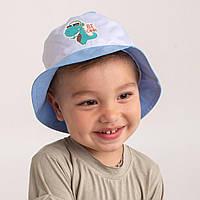 Панамка на літо для хлопчика оптом - Дракоша - Артикул 2640 блакитна
