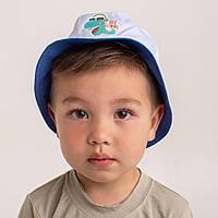 Панамка на літо для хлопчика оптом - Дракоша - Артикул 2640 синя