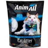 Силикагелевый наполнитель AnimAll Кристаллы аквамарина для котов, 3.8 л (1.6 кг)