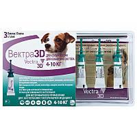 Ceva (Сева) VECTRA 3D (ВЕКТРА 3D) капли от блох и клещей для собак щенков от 4-10 кг