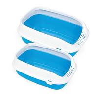 Туалет д/кош с рамкой BETA  PLUS MINI BLUE, 43x31x16