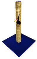Когтеточка-столбик Радуга с мышкой на квадратной подставке джут 40*40*65, фото 1