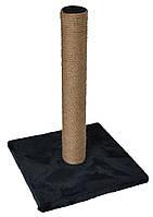 Когтеточка-столбик на квадратной подставке, джут, 30х30х45 см