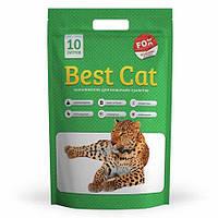 Силикагелевый наполнитель Best Cat (БЭСТ КЭТ) для кошачьего туалета Green Apple,10 л