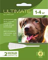 Ultimate (Ультимейт) капли от блох, клещей, вшей и власоедов для собак весом 1-4 кг