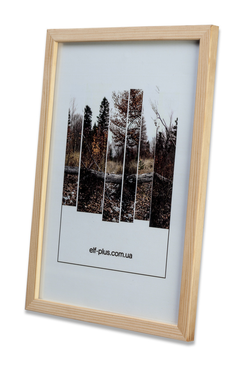 Рамка для фото 13х18 из дерева - Сосна светлая 1,5 см - со стеклом