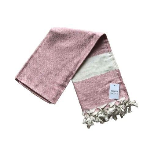 Пляжное полотенце zugo home pestemal elmas 100*180 см розовый #S/H