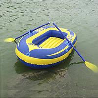 Надувная лодка двухместная -пара весел, воздушный насос, веревка.