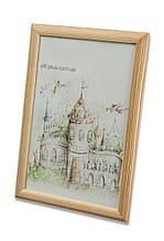 Рамка для фото 13х18 из дерева - Сосна светлая 2.2 см - со стеклом