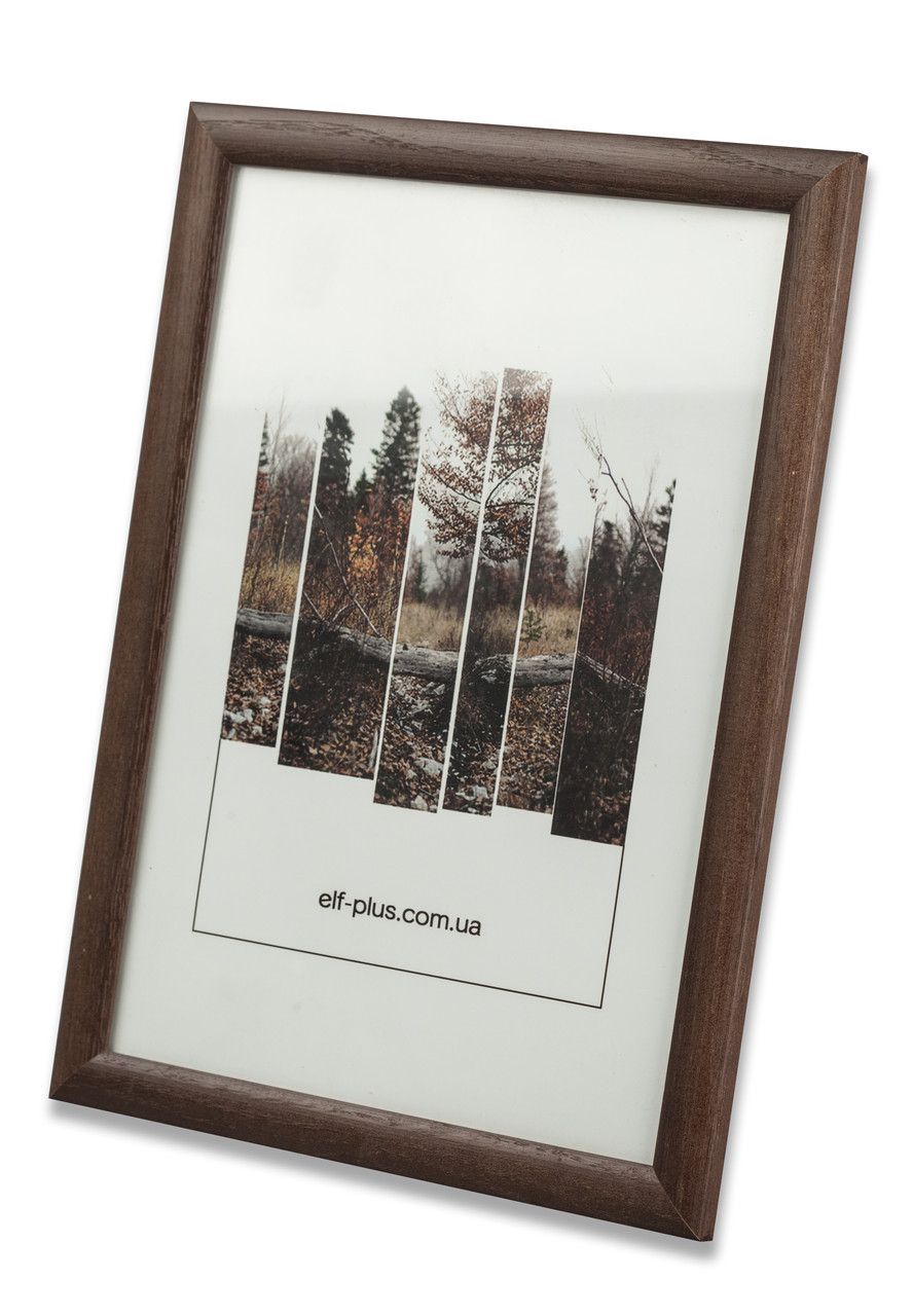 Рамка для фото 13х18 из дерева - Сосна коричневая тёмная 2,2 см - со стеклом