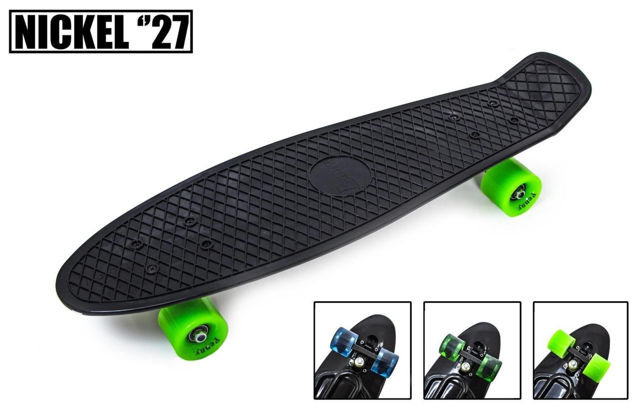"""Скейт """"Penny Board"""" Nickel 27"""" Black Матовые колеса"""
