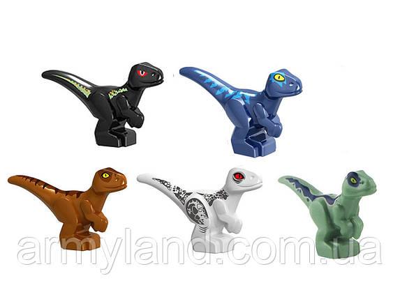 Маленькие разные Динозавры 5 шт Конструктор, аналог Лего, фото 2